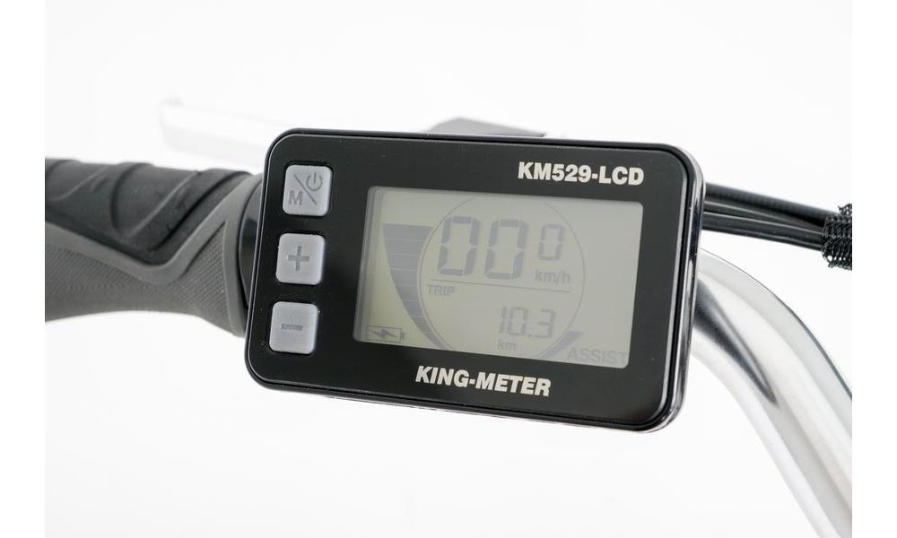 Přehledný LCD displej - 5 stupňů asistence