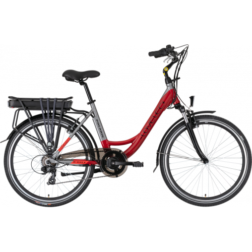 Městské elektrokolo LOVELEC Polaris Red/Grey